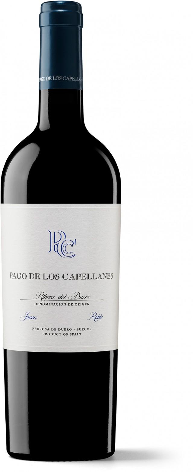 Joven Roble · Pago de los Capellanes · Botella con fondo blanco